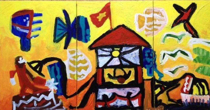A painting by Nem | Courtesy of Nem Gallery