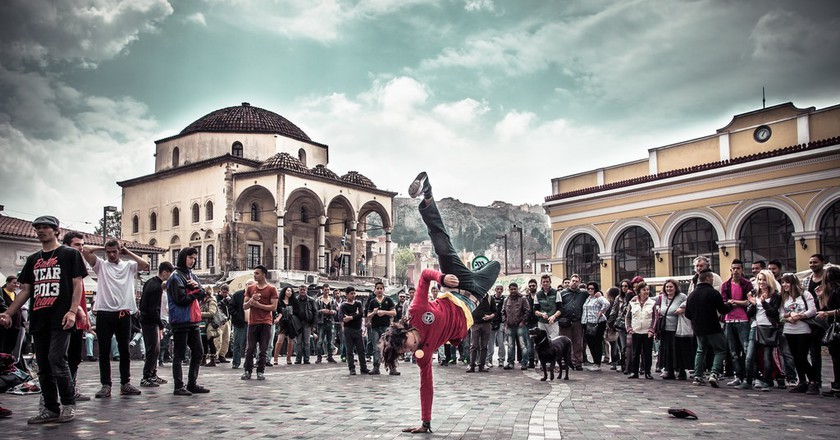 Street dancers at Monastiraki Square, Athens, Greece | © Jaume Escofet/Flickr