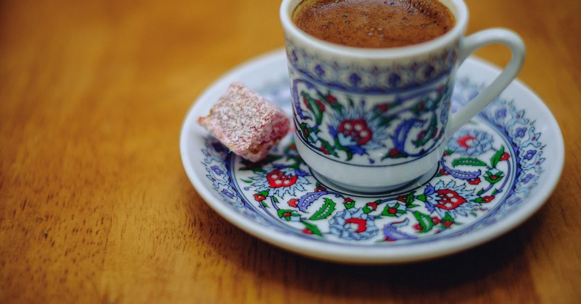 Turkish coffee with Turkish Delight treat   © Norris/Flickr