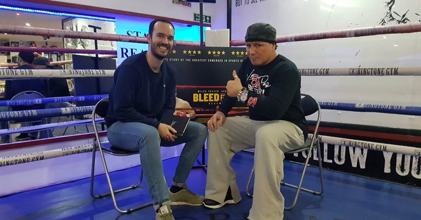 Culture Trip sports editor Luke Bradshaw (left) caught up with boxer Vinny Pazienza, the inspiration for 'Bleed For This' © Culture Trip