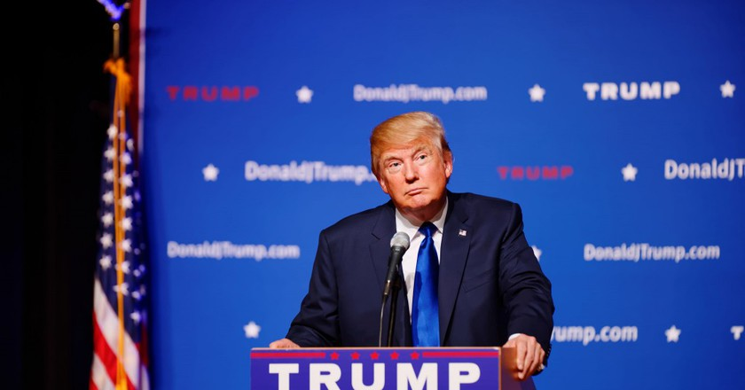 Donald Trump in New Hampshire, August 2015 |© Michael Vadon/Flickr