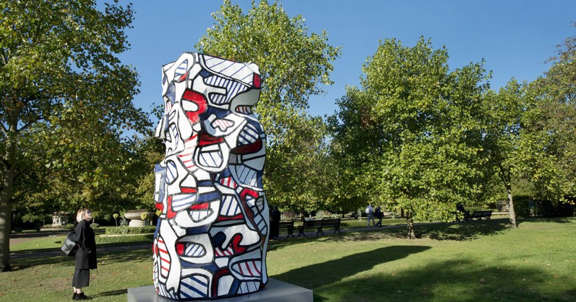 Jean Dubuffet, Tour aux récits, (after maquette dated 19 July 1973) 1973, Frieze Sculpture Park 2016. Photo: Linda Nylind. Courtesy of Linda Nylind/Frieze.