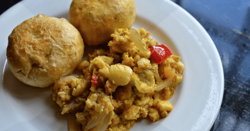 Ackee and saltfish | © Greedy Girl Cooks