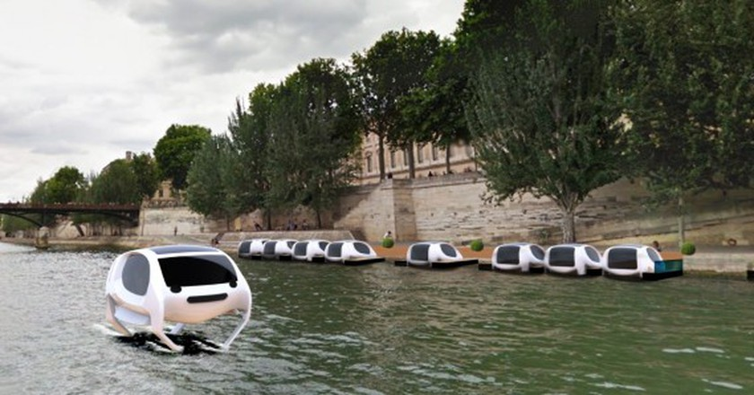 Artist's impression of SeaBubbles on the Seine │© SeaBubbles