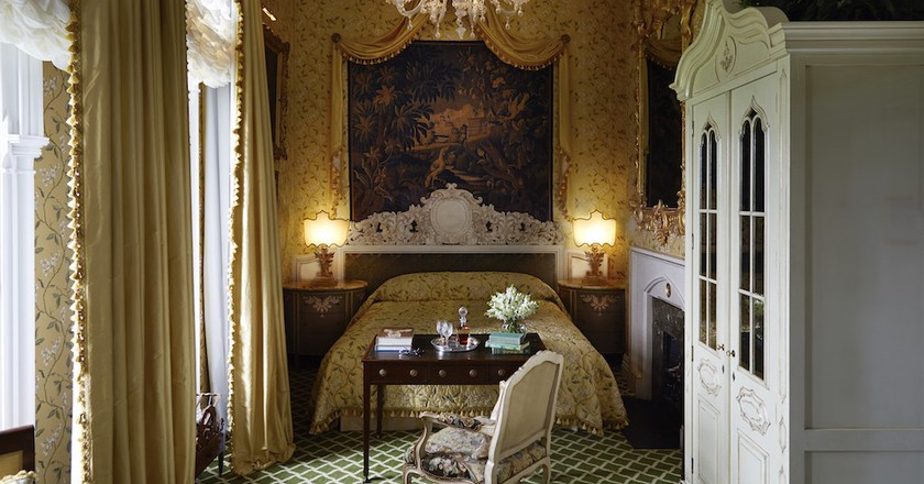Victorian lake view deluxe room at Ashford Castle | Courtesy of Ashford Castle