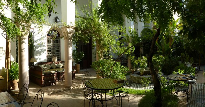 Arabo-Andalusian patio | © Riad Mabrouka