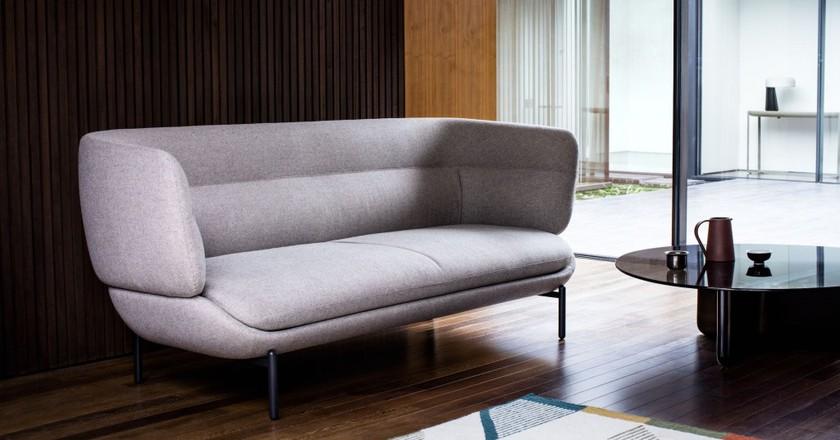Doshi Levien for John Lewis' Pondok sofa and Phulkari rug