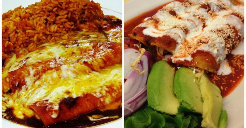 Tex-Mex enchiladas   © TheLunchBelle/Flickr / Mexican enchiladas   © Nicholas Lundgaard/Flickr