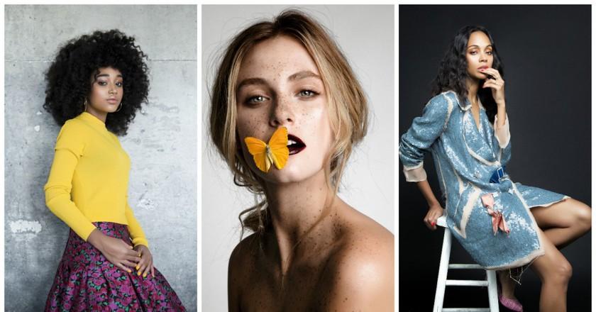 Amandla Stenberg, a Marie Claire feature & Zoe Saldana | Courtesy of Esteban Calderón