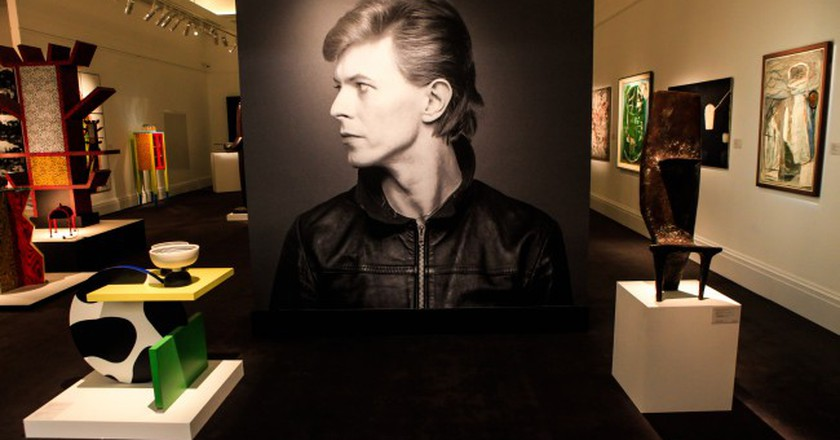 Installation view of Bowie/Collector at Sotheby's, London © Shayne Fergusson