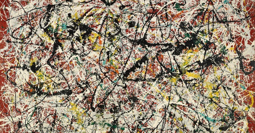 Jackson Pollock: Mural on Indian Red Ground (1950) Oil & Enamel on board, 183 x 243.5 cm | © Tehran Museum of Contemporary Art | © Pollock-Krasner Foundation / VG Bild-Kunst, Bonn 2016