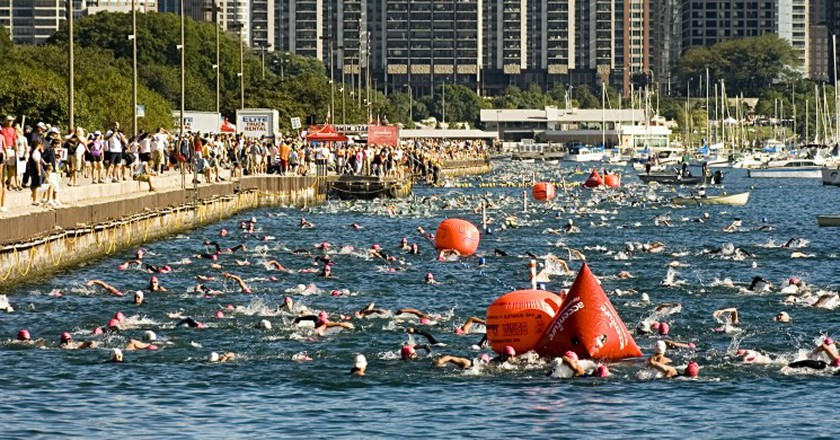 2007 Chicago Triathlon Swimmers | © WikiCommons