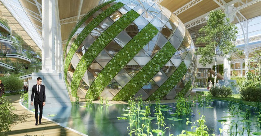 Green Geodes intermediary naves © Vincent Callebaut Architectures