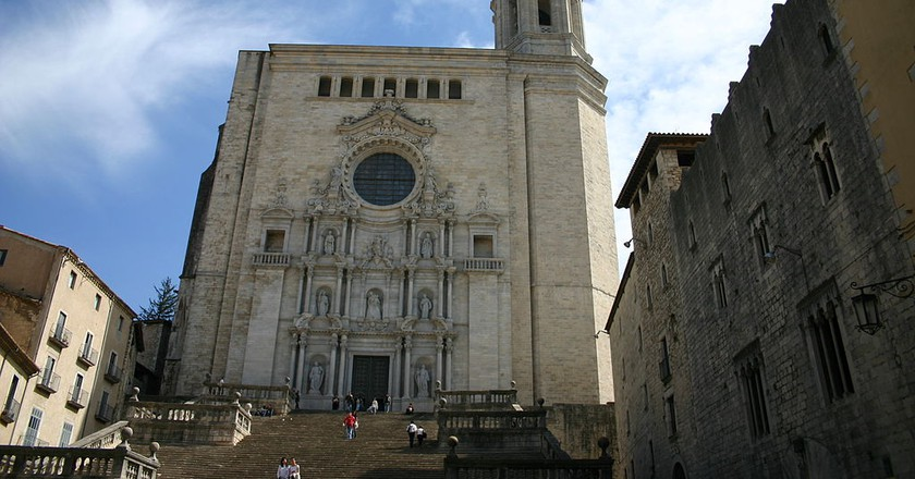 Girona Cathedral, Spain | ©yearofthedragon / Wikimedia Commons