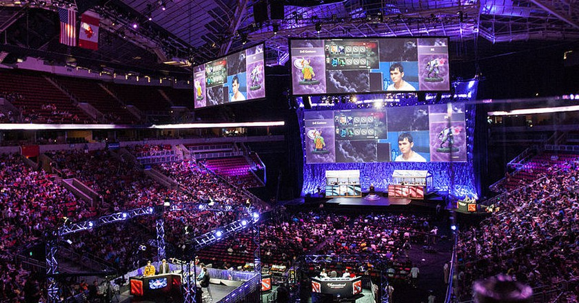 Esports tournaments now fill stadiums. | Courtesy Sam Churchill, Flickr.