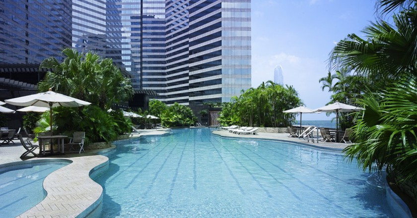 Heated 50m outdoor pool | Courtesy of the Grand Hyatt