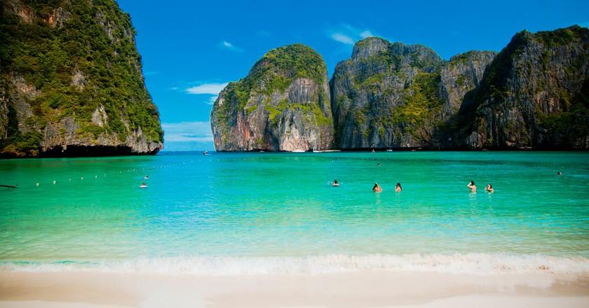 Maya Bay, aka 'The Beach' | © Kevin Tao/Flickr