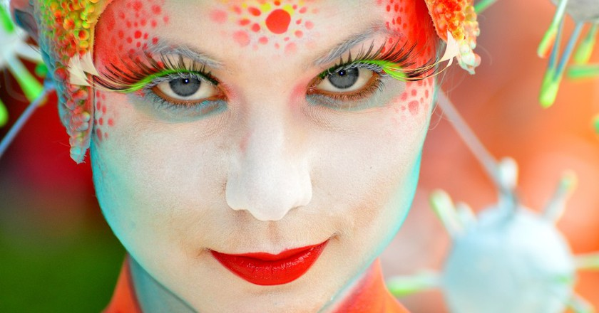Models transform into art at the Daegu International Bodypainting Festival | © stopete60 / Flickr