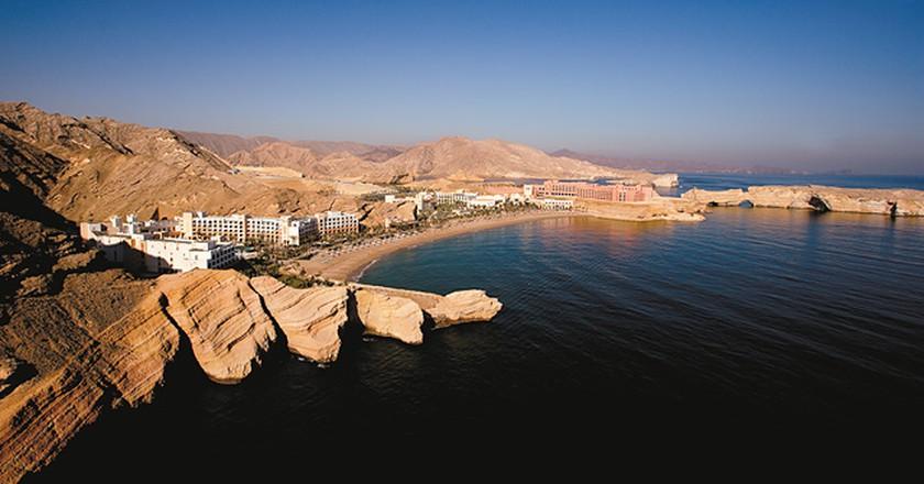 Aerial view of Shangri-La's Barr Al Jissah Resort & Spa