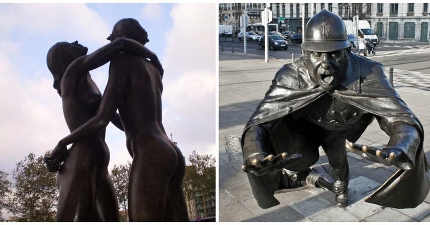 Brussels statues | © Dr Les Sachs / Flickr / © oarranzli / Flickr