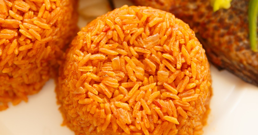 Jollof rice and fish