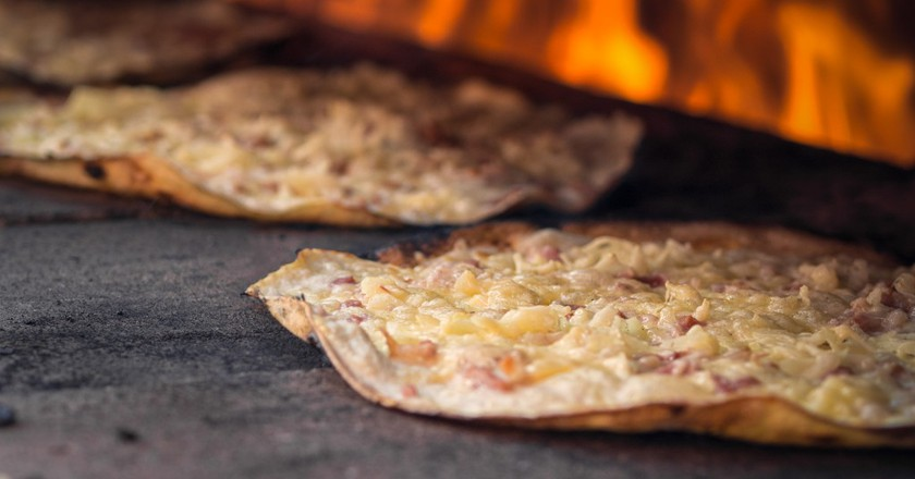 Tarte Flambée or Flammekeuche ©Nicholas Winspeare / Flickr