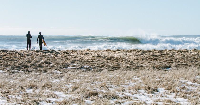 Winter surfing in Maine | © Corey McKenna