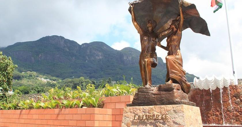 Liberty Monument, Victoria, Mahe. ©Joe Laurence, Seychelles News Agency