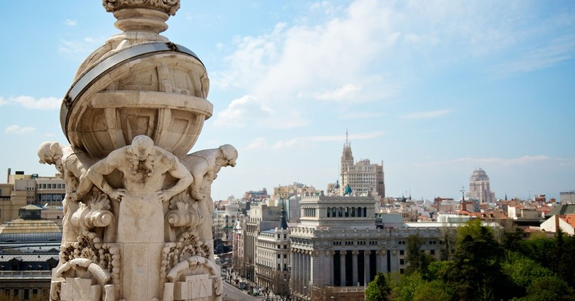 A view of Madrid taken from the Cibeles rooftop | © Madrid Destino Cultura Turismo y Negocio
