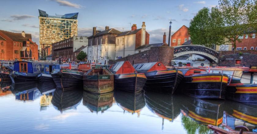 Narrowboats in Birmingham | © Neil Howard/Flickr