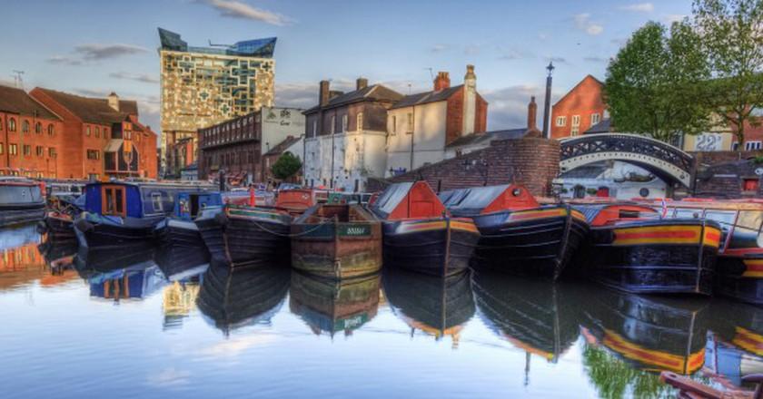 Narrowboats in Birmingham   © Neil Howard/Flickr