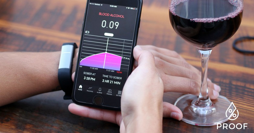 The Proof wearable tells you exactly how drunk you are.   Courtesy Milo Sensors.