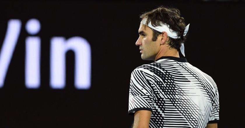 Roger Federer at the 2017 Australian Open.   © LUKASCOCH/EPA/REX/Shutterstock (8081902lg)