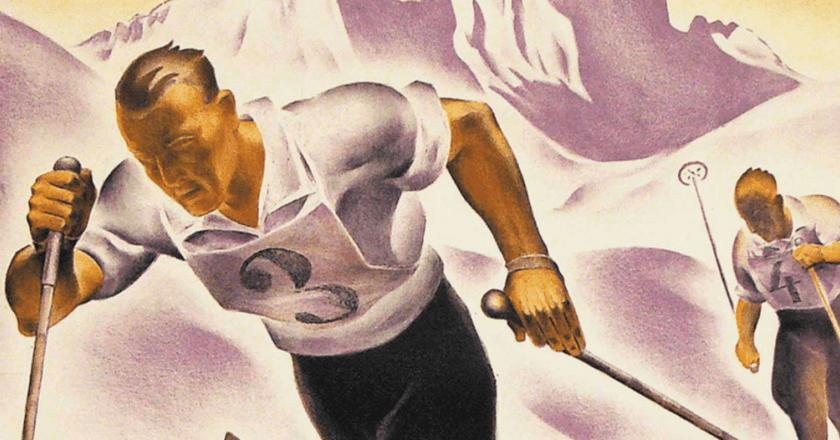 'St.Moritzer Skirennen' by Carl Moos (1878-1959). | © CHRISTIE'S IMAGES LTD. 2017