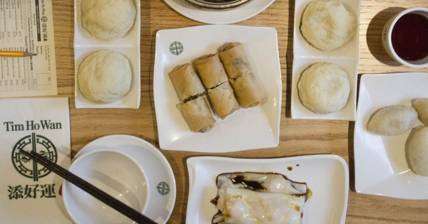 A table set with dim sum at Tim Ho Wan| © Amanda Suarez/Culture Trip