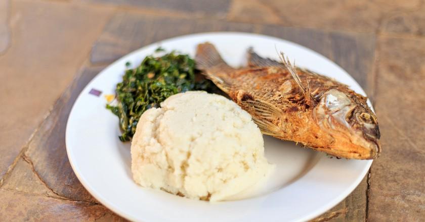 Ugali with fried fish | © Sopotnicki / Shutterstock