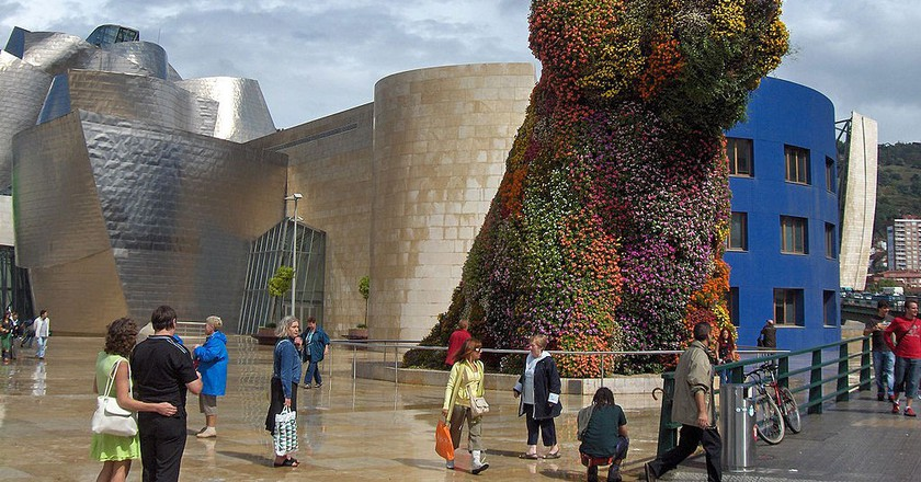 See Puppy by Jeff Koons at the Guggenheim Bilbao