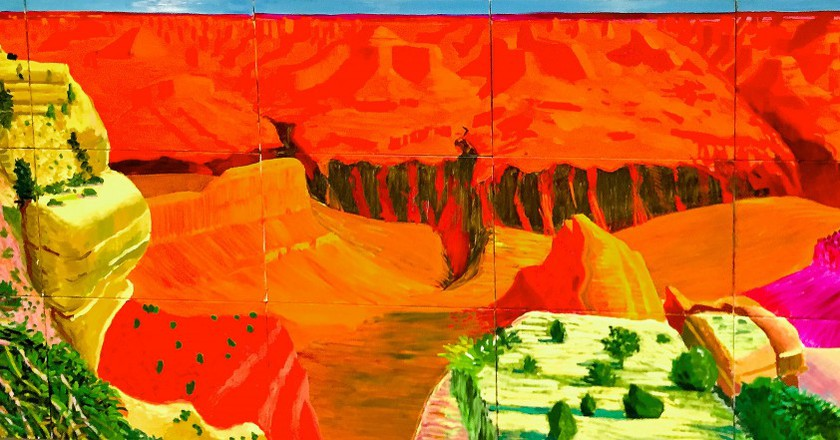 David Hockney, 'The Grand Canyon' (1998). Courtesy of Ron Cogswell/Flickr