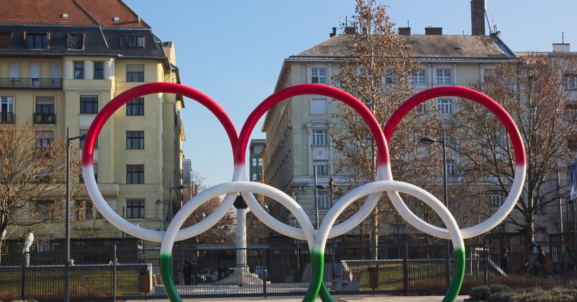 Olympic rings at Olimpia Park in Budapest | © Flickr/José Manuel García