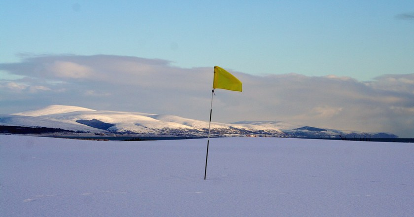 Second Green, Royal Dornoch in Winter | © John Haslam/Flickr