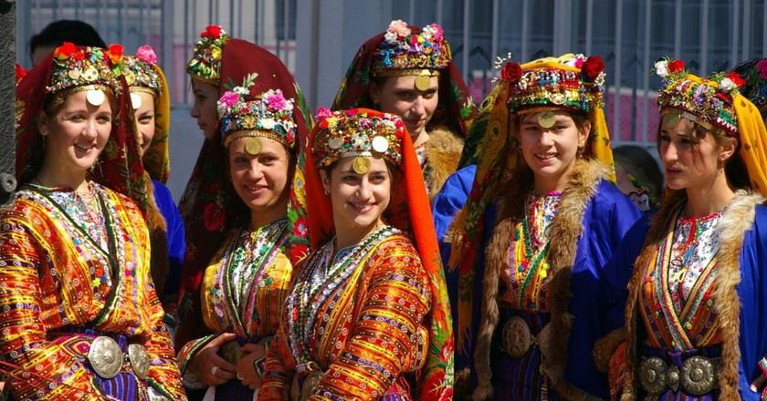 Bulgarian folk dresses   © Donald Judge/Flickr