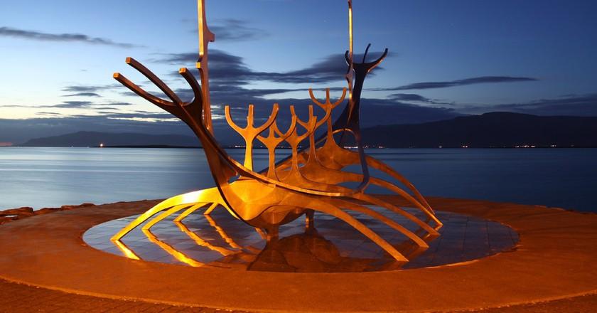 The Icelandic Sunship at midnight   © O Palsson / Flickr