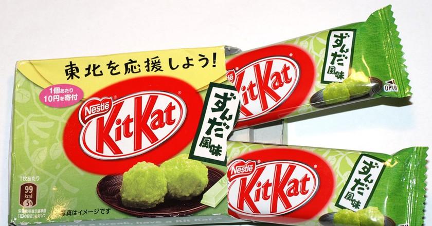 KitKat Zunda Fumi (Crushed Soybean flavor) bars | ©Joel / Flickr