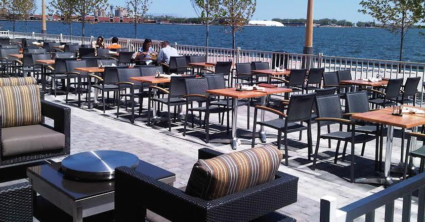 View of the lake from Against the Grain Urban Tavern | Courtesy of Against the Grain