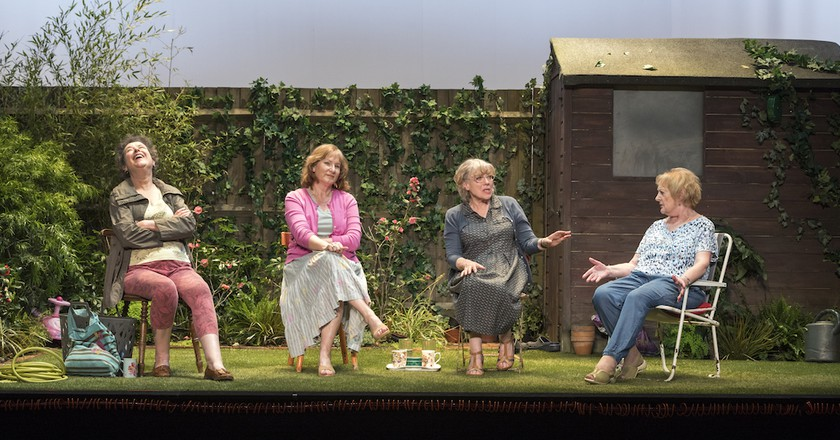 Theater: A Doomsday Chinwag in 'Escaped Alone'