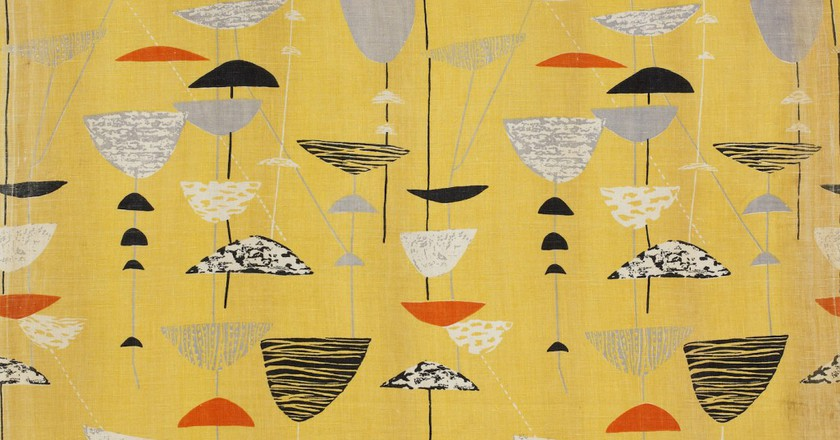 Calyx screen-printed furnishing fabric, Lucienne Day, Heal's Wholesale & Export, 1951 | © Robin & Lucienne Day Foundation