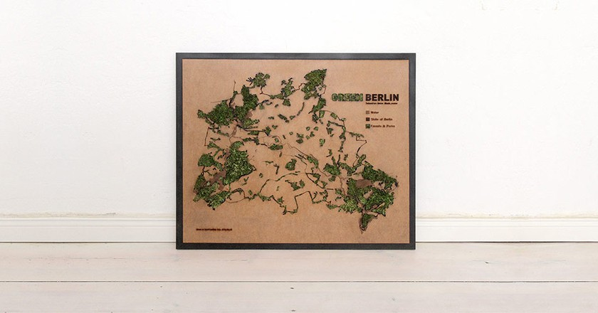 The green layers, water layers as well as the border of Berlin | © Sebastian Meier/Green Berlin