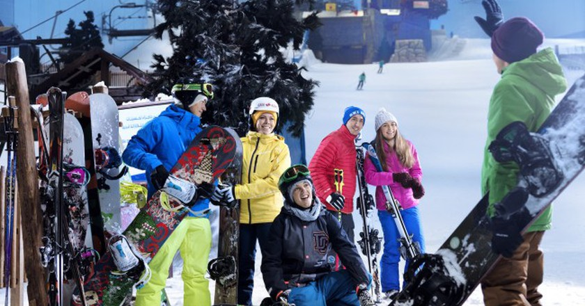 Group at Ski Dubai | Courtesy of Ski Dubai