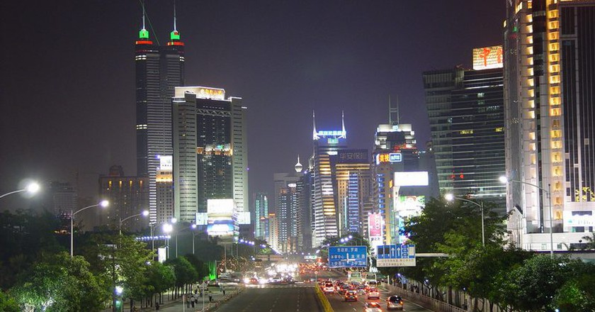 Shenzhen at night  | © Jo HK/ Wikimedia commons