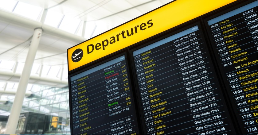 Departures board, London | © alice-photo / Shutterstock